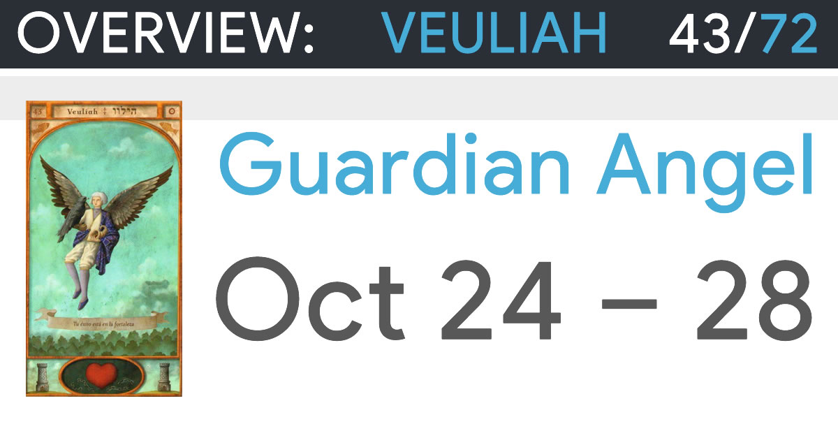 Guardian Angel Veuliah - October 24 to 28 - Overview and